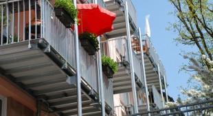 Balkon aus Stahl